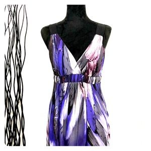 Saint Tropez West Purple Butterfly Wing Dress